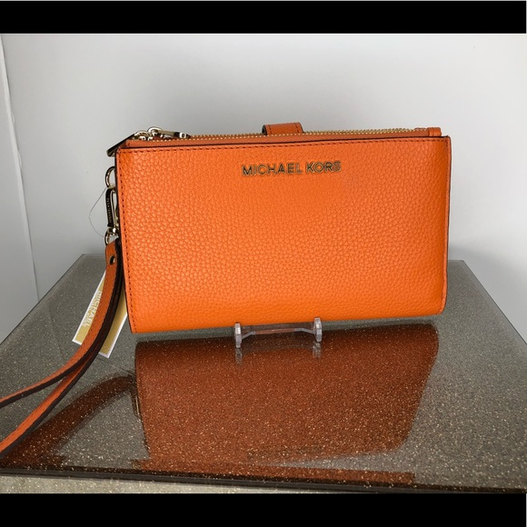 33ad24324b2669 Michael Kors Bags | Jet Set Travel Double Zip Wristlet | Poshmark
